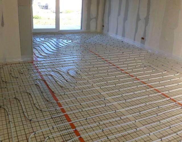 Installation plancher chauffant avec Est énergies 54